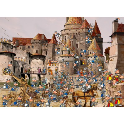 grafika-Puzzle - 300 pieces - François Ruyer - Attack of the Castle