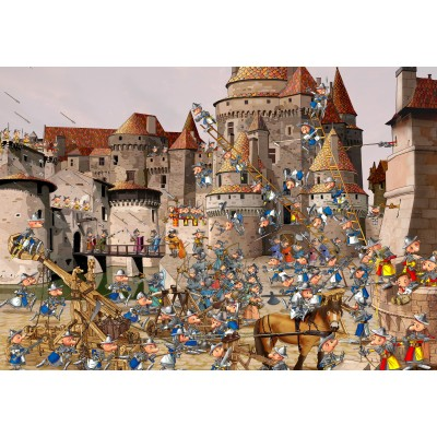 grafika-Puzzle - 100 pieces - François Ruyer - Attack of the Castle