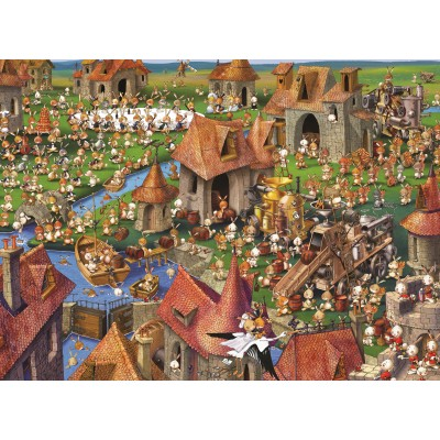 grafika-Puzzle - 300 pieces - François Ruyer - Rabbits!