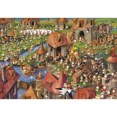 grafika-Puzzle - 100 pieces - François Ruyer - Rabbits!