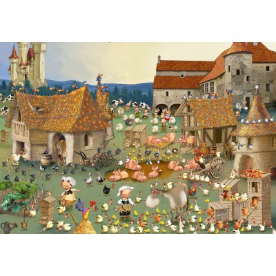 grafika-Puzzle - 100 pieces - François Ruyer - Farm