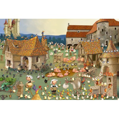grafika-Puzzle - 12 pieces - XXL Pieces - François Ruyer - Farm