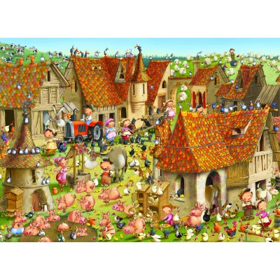 grafika-Puzzle - 300 pieces - François Ruyer - Farm