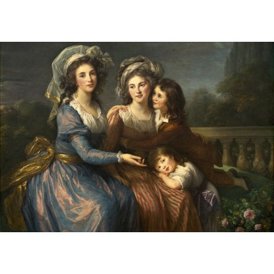 grafika-Puzzle - 100 pieces - Louise-Élisabeth Vigee le Brun: The Marquise de Pezay, and the Marquise de Rougé with Her Sons Alexi