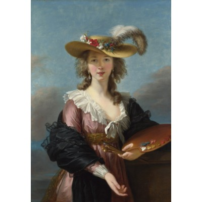 grafika-Puzzle - 100 pieces - Elisabeth Vigée-Lebrun: Self-portrait in a Straw Hat, 1782
