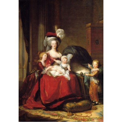 grafika-Puzzle - 100 pieces - Louise-Élisabeth Vigee le Brun: Marie Antoinette and her Children, 1787