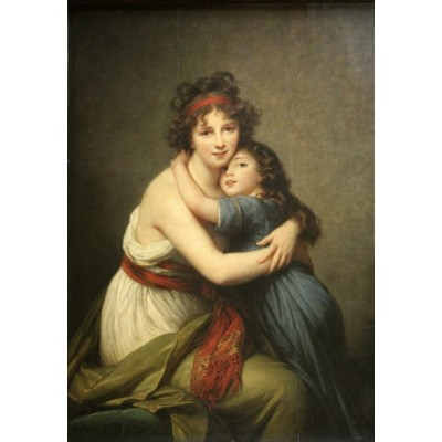 grafika-Puzzle - 100 pieces - Elisabeth Vigée-Lebrun: Madame Vigée-Lebrun and her daughter, 1789