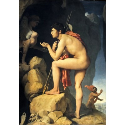 grafika-Puzzle - 100 pieces - Jean-Auguste-Dominique Ingres: Oedipus explains the riddle of the sphinx, 1808