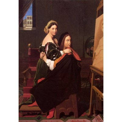 grafika-Puzzle - 100 pieces - Jean-Auguste-Dominique Ingres: Raphaël and the Fornarina, 181