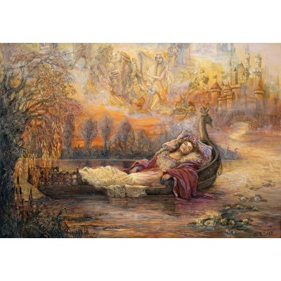 grafika-Puzzle - 100 pieces - Josephine Wall - Dreams of Camelot