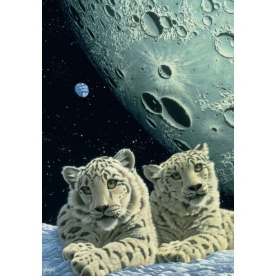 grafika-Puzzle - 100 pieces - Schim Schimmel - Lair of the Snow Leopard