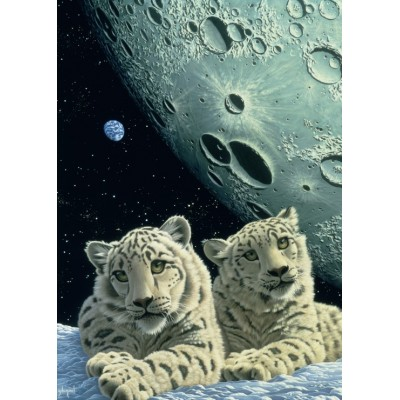 grafika-Puzzle - 24 pieces - Magnetic Pieces - Schim Schimmel - Lair of the Snow Leopard
