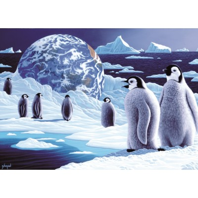grafika-Puzzle - 24 pieces - Magnetic Pieces - Schim Schimmel - Antarctica's Children