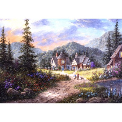 grafika-Puzzle - 100 pieces - Dennis Lewan - Hills Of Bavaria
