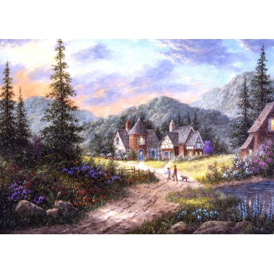 grafika-Puzzle - 24 pieces - Magnetic Pieces - Dennis Lewan - Hills Of Bavaria