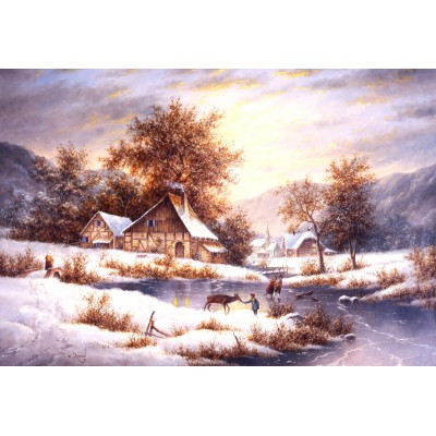 grafika-Puzzle - 12 pieces - XXL Pieces - Dennis Lewan - Amber Sky Of Winter
