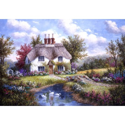 grafika-Puzzle - 100 pieces - Dennis Lewan - Swan Creek Cottage
