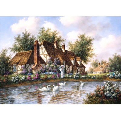 grafika-Puzzle - 300 pieces - Dennis Lewan - Admiring The Swans