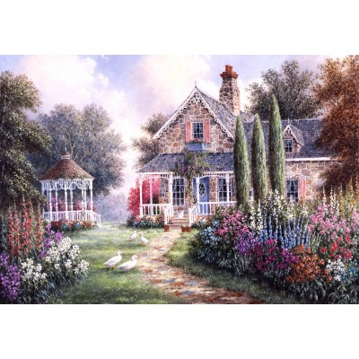 grafika-Puzzle - 100 pieces - Dennis Lewan - Elmira's Cottage