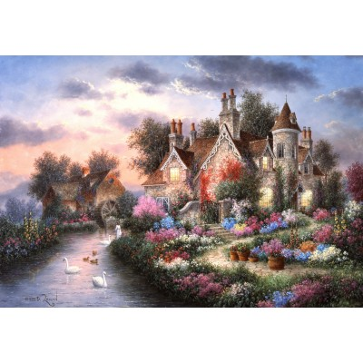 grafika-Puzzle - 100 pieces - Dennis Lewan - Mill Creek Manor