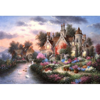 grafika-Puzzle - 12 pieces - XXL Pieces - Dennis Lewan - Mill Creek Manor