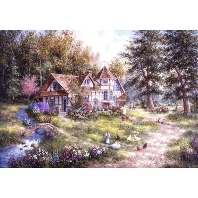 grafika-Puzzle - 100 pieces - Dennis Lewan - Glacier Ridge Manor