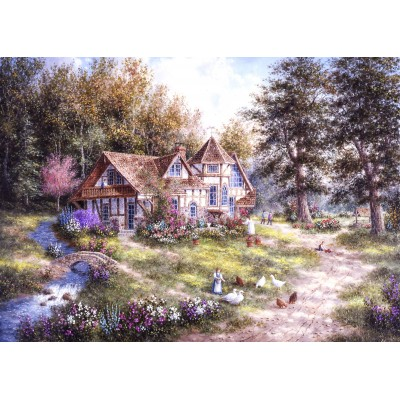 grafika-Puzzle - 24 pieces - Dennis Lewan - Glacier Ridge Manor