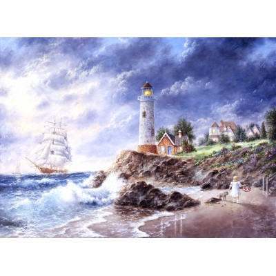 grafika-Puzzle - 300 pieces - Dennis Lewan - Anchor Cove