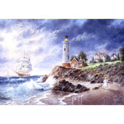grafika-Puzzle - 100 pieces - Dennis Lewan - Anchor Cove