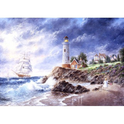 grafika-Puzzle - 24 pieces - Magnetic Pieces - Dennis Lewan - Anchor Cove