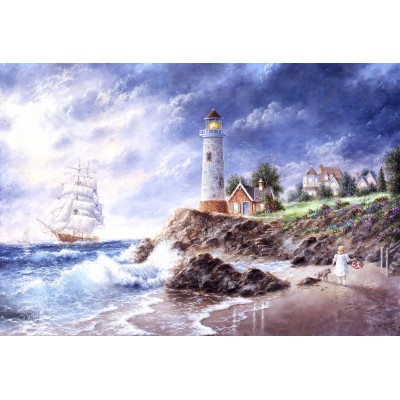 grafika-Puzzle - 12 pieces - XXL Pieces - Dennis Lewan - Anchor Cove