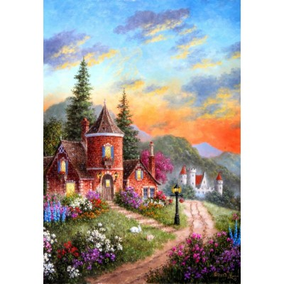 grafika-Puzzle - 100 pieces - Dennis Lewan - Castle Ridge Manor