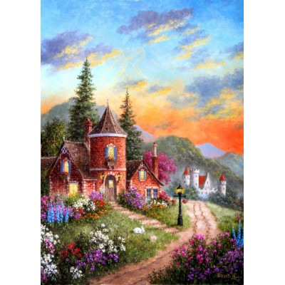 grafika-Puzzle - 24 pieces - Magnetic Pieces - Dennis Lewan - Castle Ridge Manor
