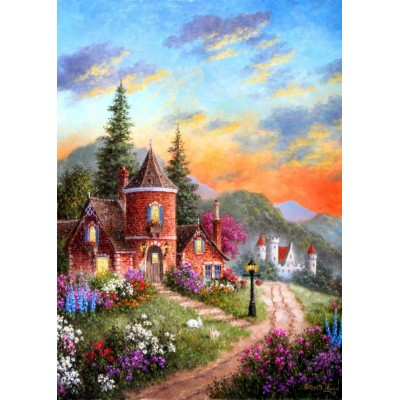 grafika-Puzzle - 24 pieces - Dennis Lewan - Castle Ridge Manor