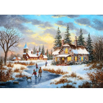 grafika-Puzzle - 24 pieces - Dennis Lewan - A Mid-Winter's Eve