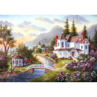 grafika-Puzzle - 100 pieces - Dennis Lewan - Angels of the Evening