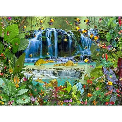 grafika-Puzzle - 300 pieces - François Ruyer - Waterfall
