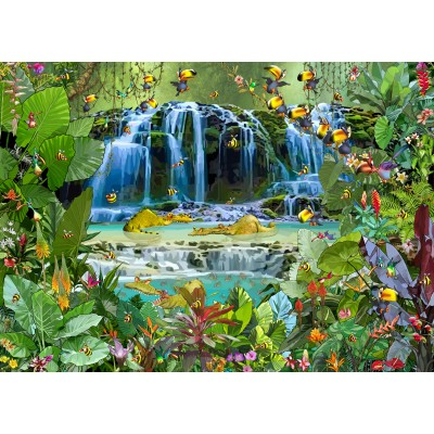 grafika-Puzzle - 24 pieces - Magnetic Pieces - François Ruyer - Waterfall