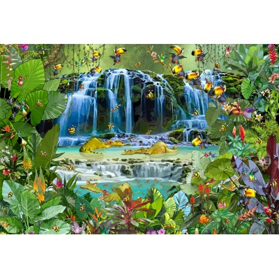 grafika-Puzzle - 12 pieces - XXL Pieces - François Ruyer - Waterfall