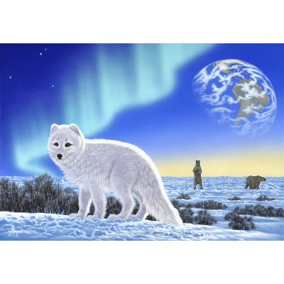 grafika-Puzzle - 100 pieces - Schim Schimmel - Artic Fox