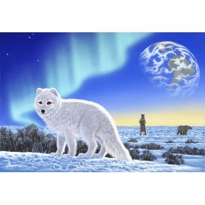 grafika-Puzzle - 12 pieces - XXL Pieces - Schim Schimmel - Artic Fox