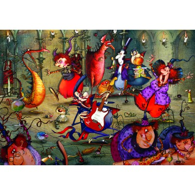 grafika-Puzzle - 100 pieces - François Ruyer - The Witches Festival