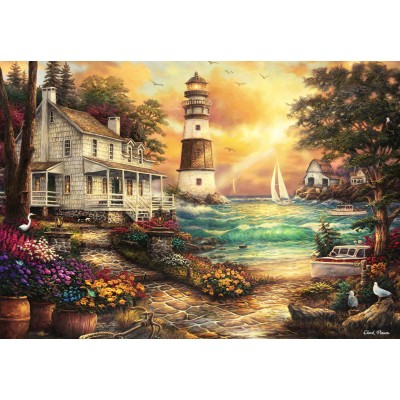 grafika-Puzzle - 100 Teile - Chuck Pinson - Cottage by the Sea