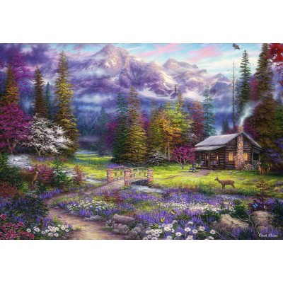 grafika-Puzzle - 100 pieces - Chuck Pinson - Inspiration of Spring Meadows