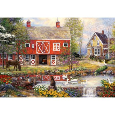 grafika-Puzzle - 100 Teile - Chuck Pinson - Reflections On Country Living
