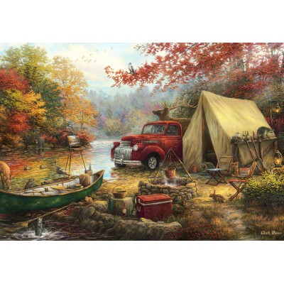grafika-Puzzle - 100 pieces - Chuck Pinson - Share the Outdoors