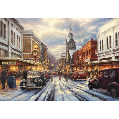 grafika-Puzzle - 100 pieces - Chuck Pinson - The Warmth of Small Town Living
