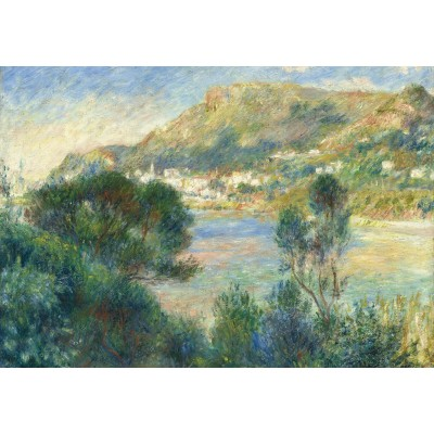 grafika-Puzzle - 100 pieces - Auguste Renoir - View of Monte Carlo from Cap Martin