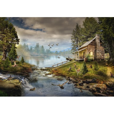 grafika-Puzzle - 100 pieces - The Fisherman's Cabin