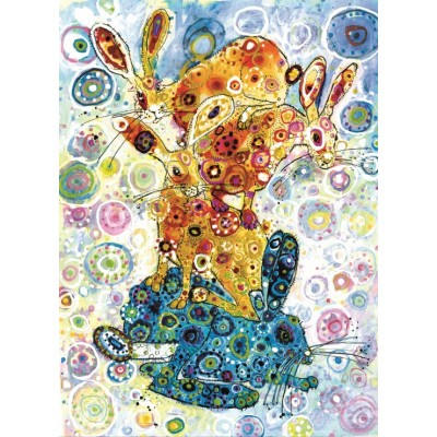 grafika-Puzzle - 300 pieces - Sally Rich - Devon Hare Stack